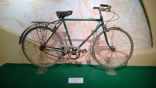 Xe đạp đồng chí Nguyễn Chí Thanh sử dụng trong kháng chiến chống Pháp tại chiến khu Việt Bắc từ 1950 - 1954.