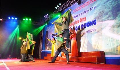 Đoàn Tiền Giang biểu diễn phục vụ tại huyện Thăng Bình, tỉnh Quảng Nam.