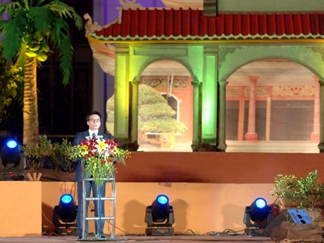 Phó Thủ tướng Vũ Đức Đam phát biểu tại Lễ khai mạc Festival Đờn ca tài tử quốc gia lần thứ nhất. Ảnh: Chinhphu.vn