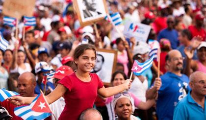 Tuần hành kỷ niệm Ngày Quốc tế Lao động tại thủ đô La Habana, Cuba ngày 1-5.