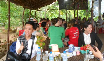 Thưởng thức các loại trái cây, món ngon miệt vườn tại các điểm du lịch sinh thái ở cù lao Tân Phong
