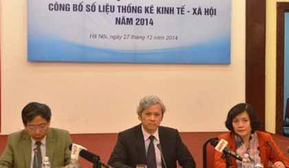 Tổng cục Thống kê họp báo công bố số liệu KTXH. Ảnh VGP/Huy Thắng