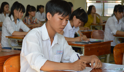 The 2015 national high school exam in Tien Giang