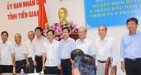 Ban chấp hành mới của Hiệp hội DN Tiền Giang ra mắt sau khi bầu bổ sung.