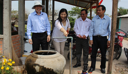 Tan Phu Dong island district has clean water