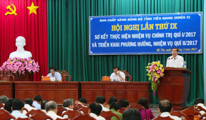 The Committee of Tien Giang province Party Committee holds the 9th conference