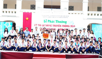 Tien Giang Specialist Highschool wins 46 medals at the 30-4 Olympic