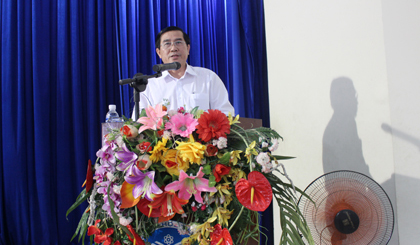 Chairman of the PPC works with Tien Giang University