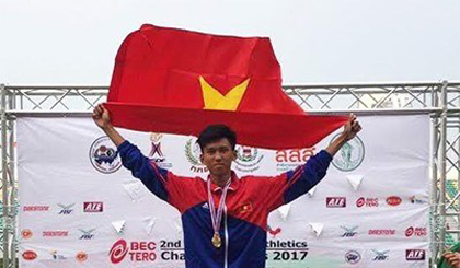 Vietnam wins three silvers at Asian Youth Athletics Champs