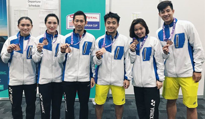 VN beat Singapore, take Sudirman Cup's Group 2
