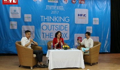 Speakers at the Startup Wheel 2017 event (Photo: dantri.com.vn)