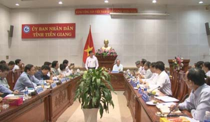 Ministry of Heah works with Tien Giang province