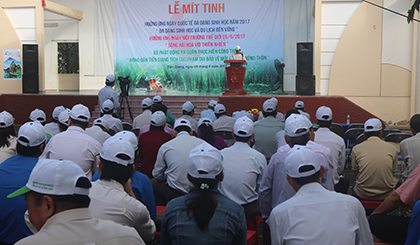 Tien Giang responds to the 2017 International Day for Biological Diversity