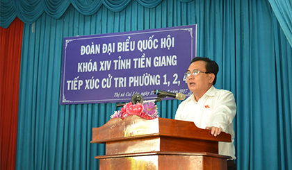 The National Assembly deputies of Tien Giang province meets voters