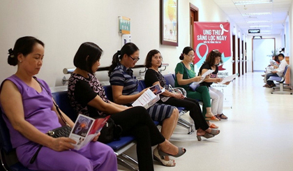 Around 15,000 people receive free cancer screening and treatment