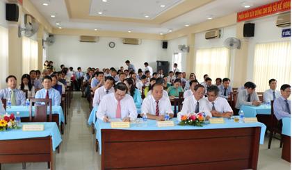Buổi lễ công bố quyết định thành lập Trung tâm Hỗ trợ phát triển doanh nghiệp tỉnh Tiền Giang