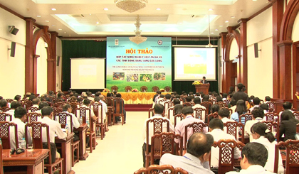 The workshop on agricuural cooperation between India and Mekong Dea provinces