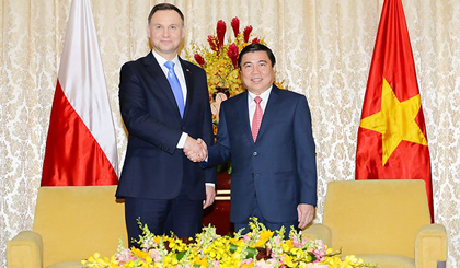 HCM City leader welcomes Polish President Adrej Duda