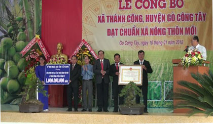 Thanh Cong commune is recognized as the new rural commune