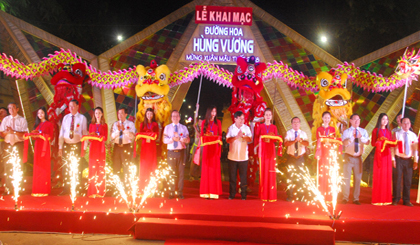 Hung Vuong Flower Street opend for Tet