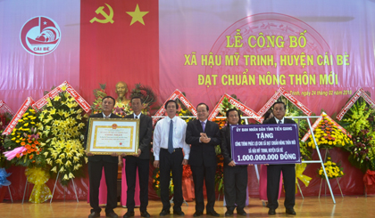 Hau My Trinh commune is recognized as the new rural commune