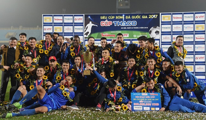 Quang Nam grab first National Super Cup in narrow win