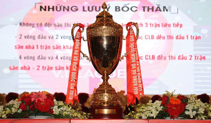 A trophy for the winner of the V.League 2018 champions. (Photo: vietbao.vn)