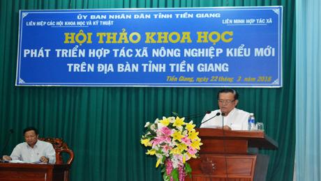 PCT UBND tỉnh Lê Văn Nghĩa phát biểu tại Hội thảo