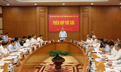 The Central Steering Committee for Judicial Reforms convened its sixth meeting in Hanoi on September 15 (Photo: VNA)
