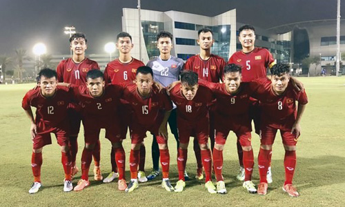 Vietnam's U19 football squad ranked third at the four-nation international friendly tournament in Qatar. (Photo: VNA)
