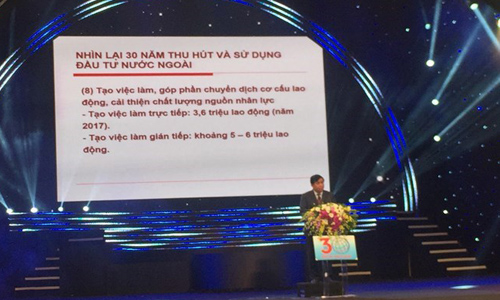 Minister of Planning and Investment Nguyen Chi Dung addresses the conference (Source: VNA)