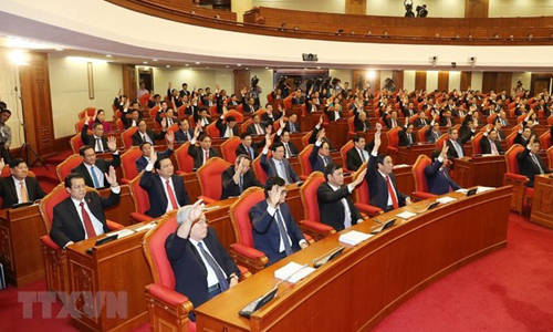 Party Central Committee issues announcement on 8th plenum. (Photo: VNA)