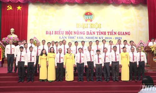 The Executive Board of the Tien Giang Province Farmer's Association, term VIII, the term of 2018-2023. Photo: thtg.vn