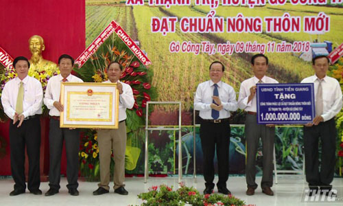 Tien Giang province has more three new rural communes