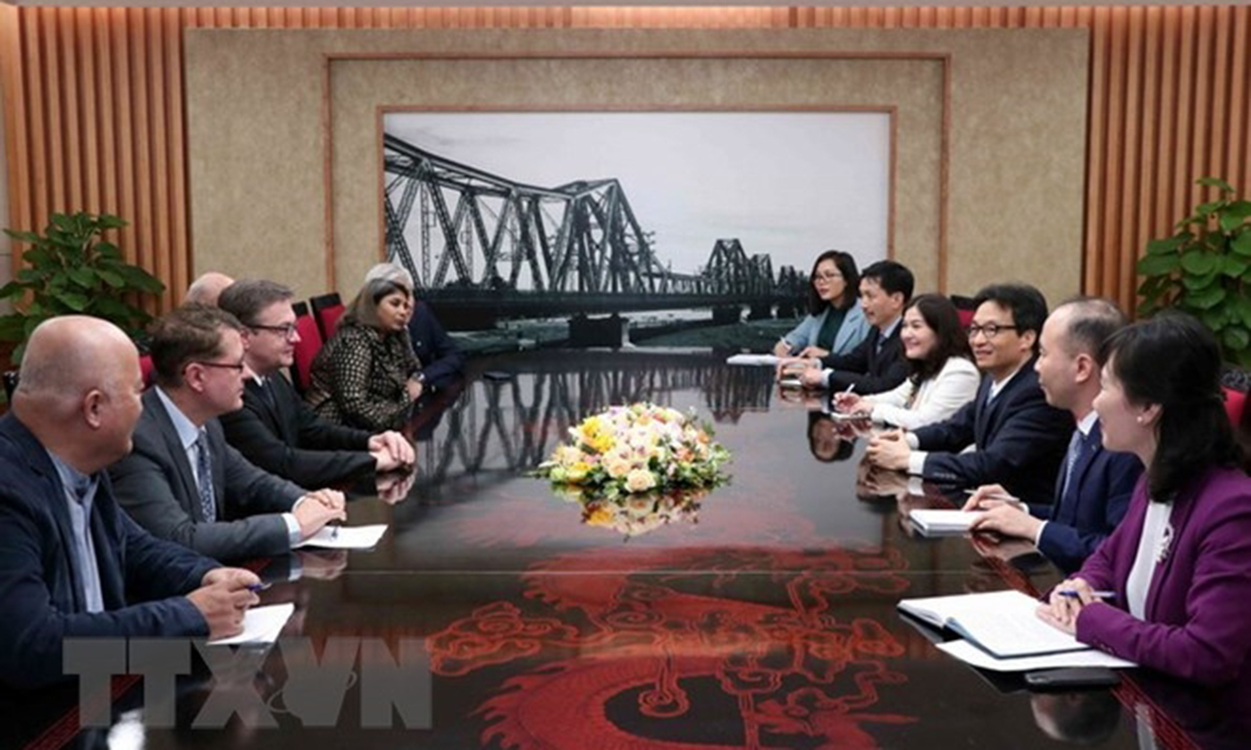 Deputy Prime Minister Vu Duc Dam receives a delegation from SOS Children's Villages International and a group of donors (Source: VNA)