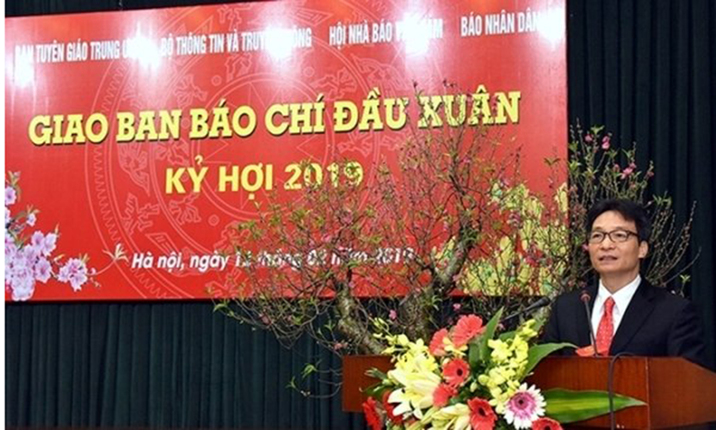 Deputy Prime Minister Vu Duc Dam speaks at the conference. (Photo: NDO)