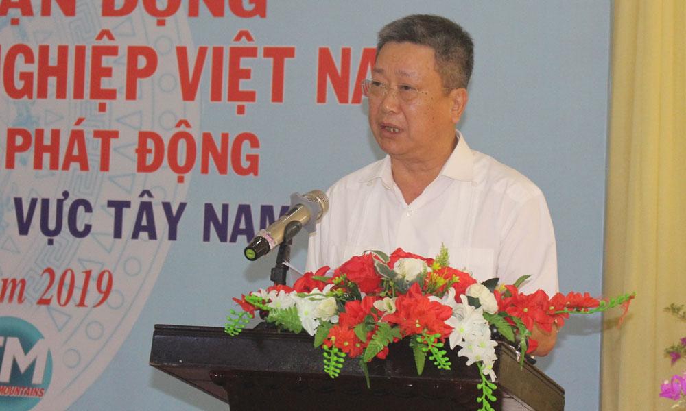Trưởng BTC 248 Hồ Anh Tuấn phát biểu tại hội nghị.