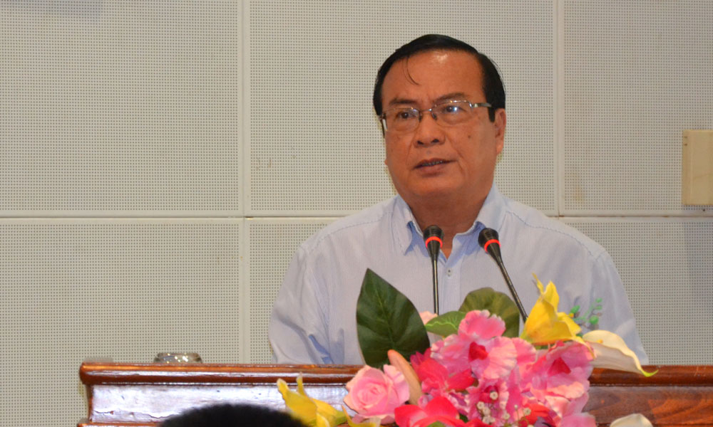Phó Chủ tịch Ủy ban nhân dân tỉnh Phạm Anh Tuấn phát biểu tại tại Lễ ký kết.