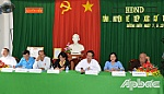 Secretary of the Tien Giang provincial Party Committee meets voters in Chau Thanh district