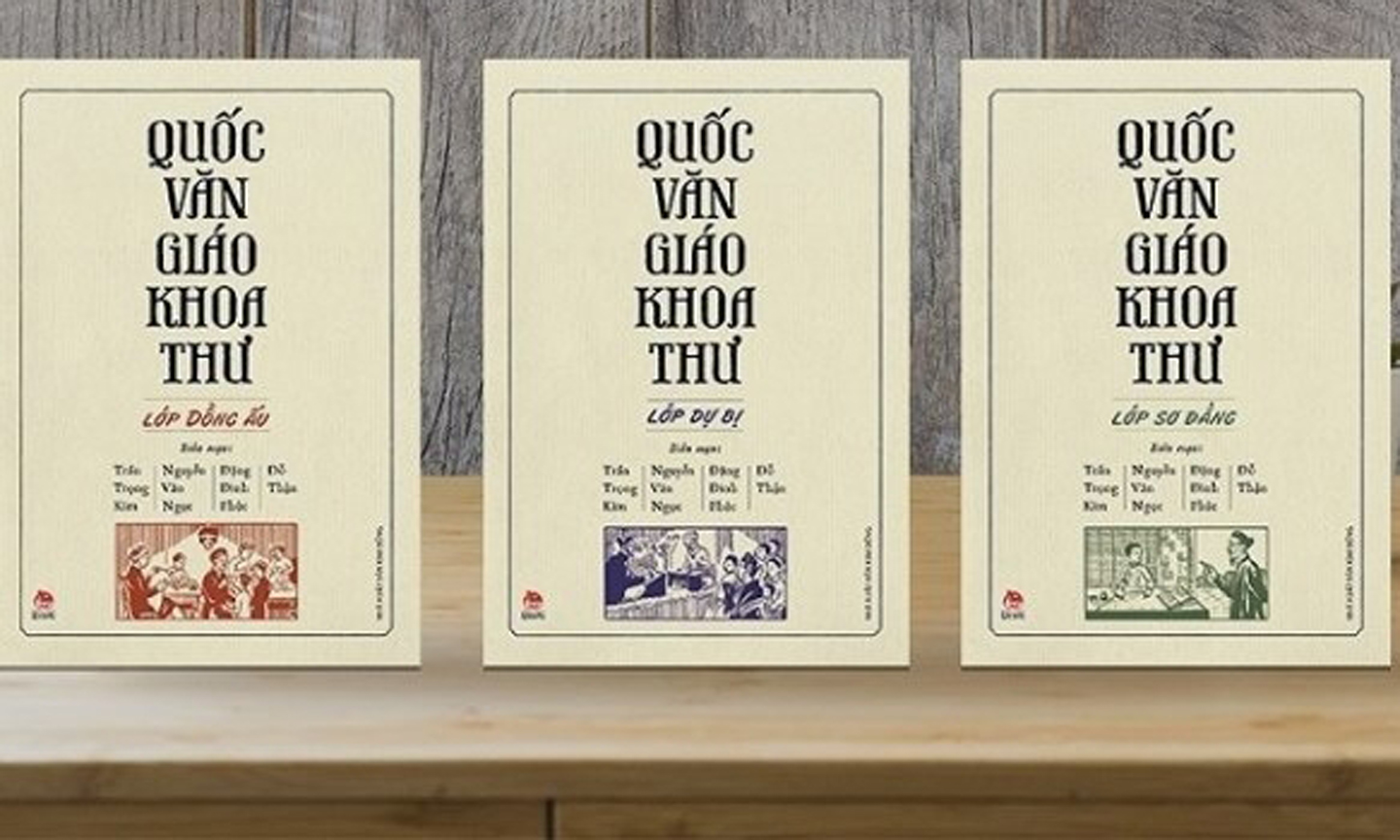 The full set of Quoc Van Giao Khoa Thu – the first primary Vietnamese textbooks, first published in the early years of the 20th century.