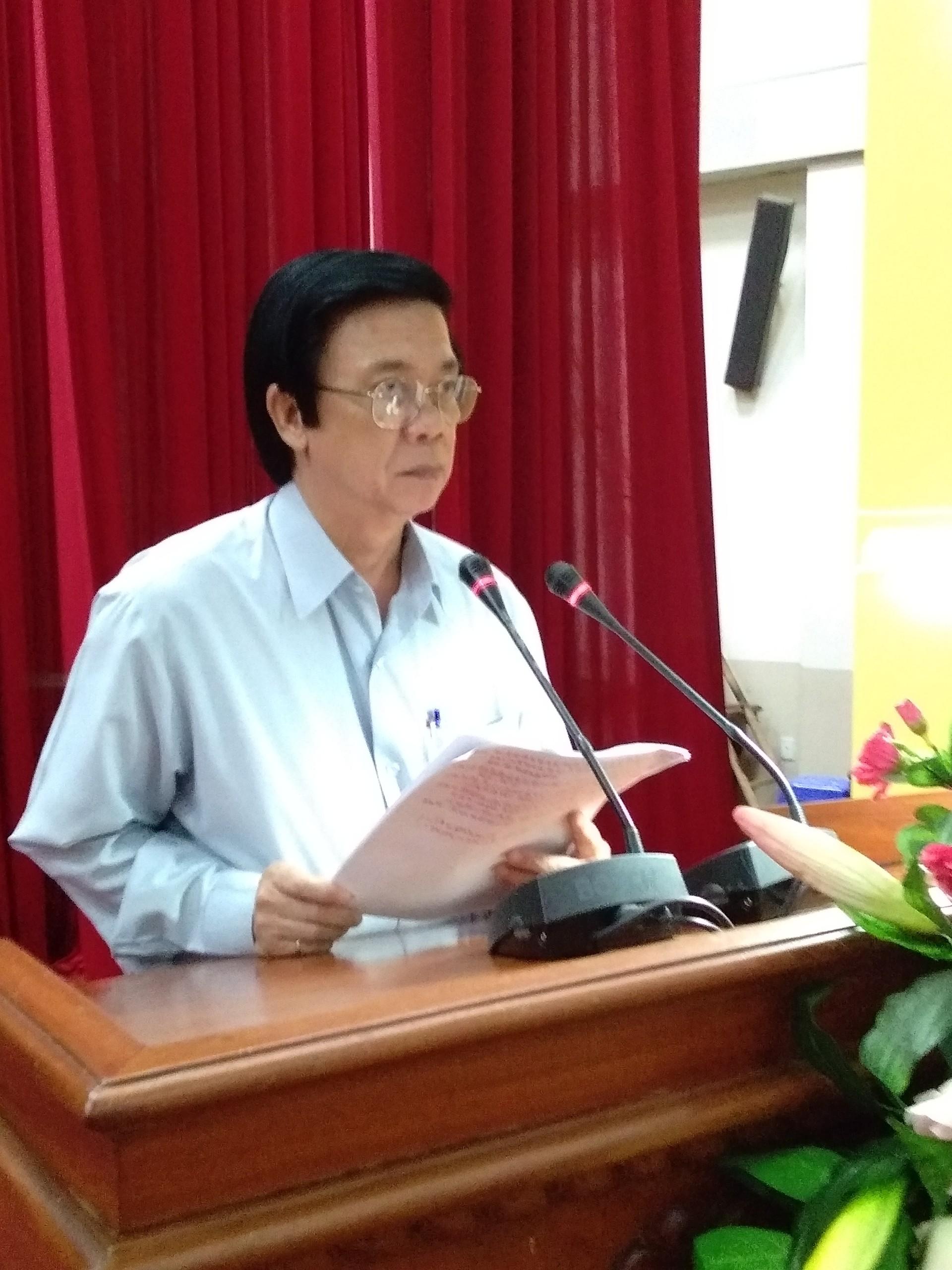 Bí thư Tỉnh ủy Nguyễn Văn Danh phát biểu kết luận hội nghị