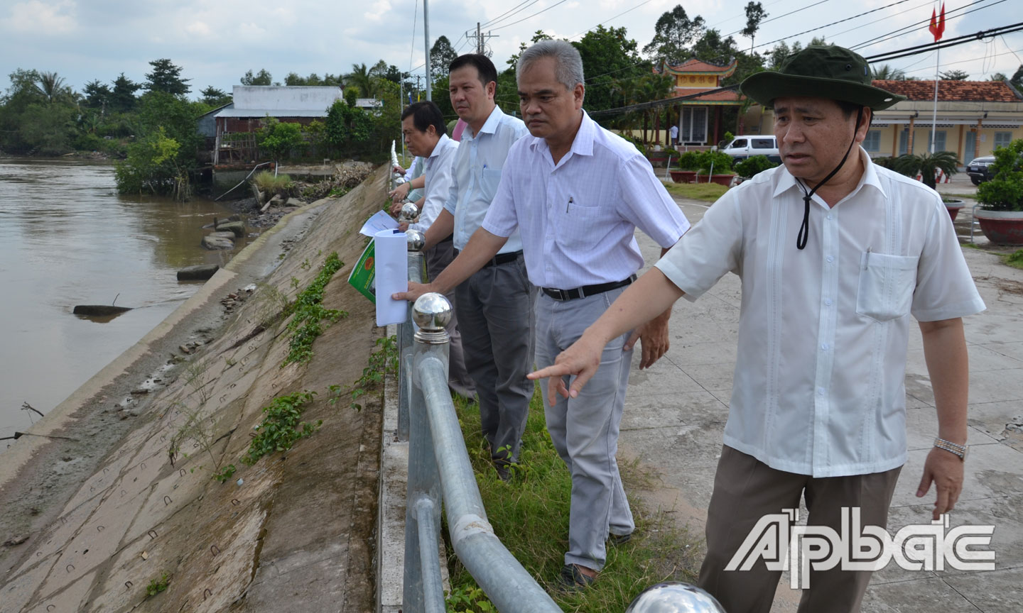 Vice Chairman of the PPC surveys infrastructure preparation for Dong Hoa Hiep ancient village festival