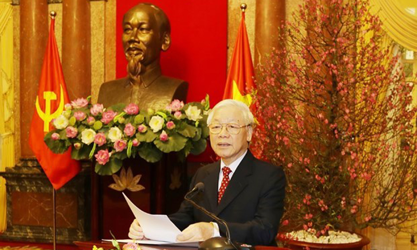Top leader pins high hope on prosperous Vietnam