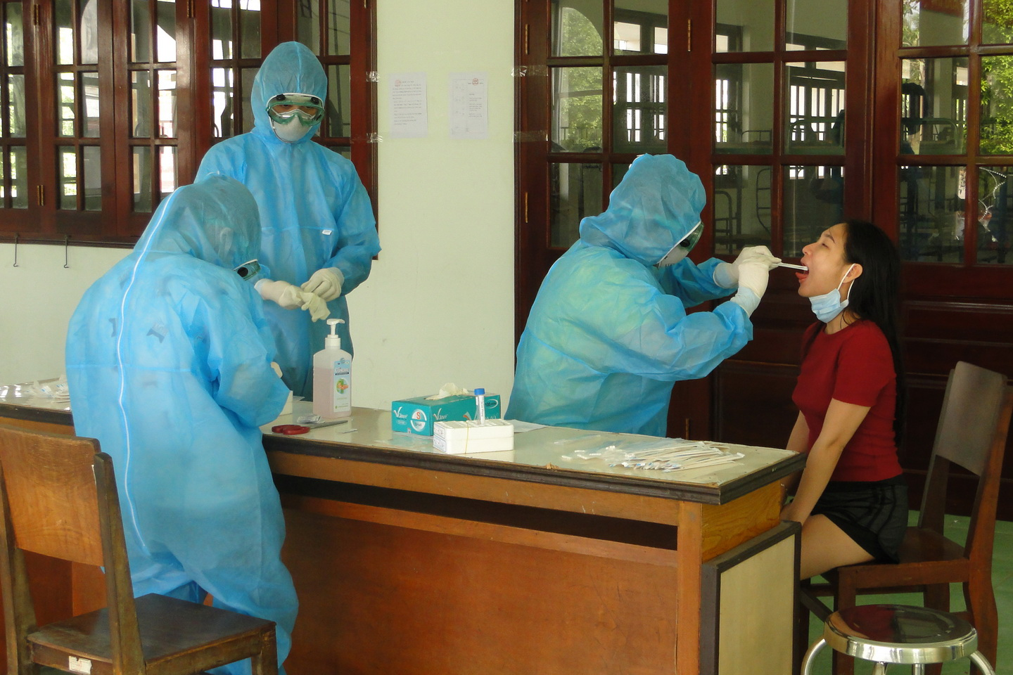 All quarantined people at Tien Giang Military School tested negative for COVID-19