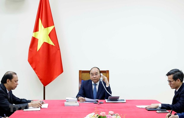 Prime Minister Nguyen Xuan Phuc at the talks.